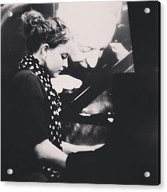 Pauline Playing Piano. #simonegruber Acrylic Print