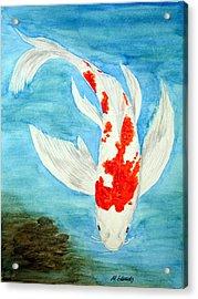 Paul's Koi Acrylic Print by Marna Edwards Flavell