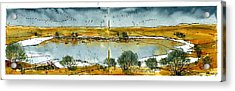 Acrylic Print featuring the mixed media Paul's Lake by Tim Oliver