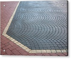 Paving Bricks Acrylic Print by Pete Trenholm