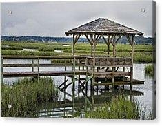 Pawleys Creek Dock Acrylic Print