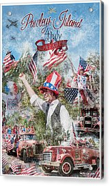 Pawleys Island 4th Of July Parade Acrylic Print