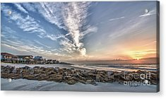 Pawleys Island Beach Sunrise Acrylic Print