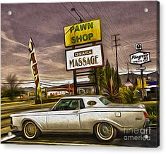 Pawn - Pool - Massage Acrylic Print by Gregory Dyer