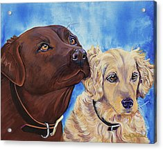 Pawsitively Friends Acrylic Print