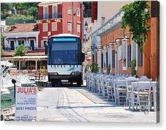 Paxos Island Bus Acrylic Print