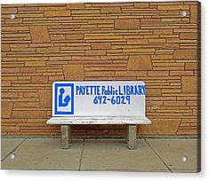 Payette Library Bench Acrylic Print