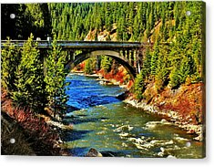 Payette River Scenic Byway Acrylic Print by Benjamin Yeager