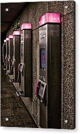Payphones? Acrylic Print by Anthony Citro