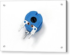 Pcb Potentiometer Acrylic Print by Trevor Clifford Photography