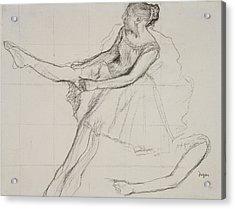 Dancer Adjusting Her Tights Acrylic Print