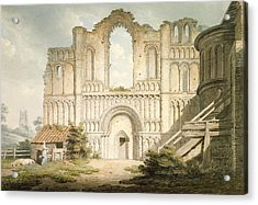 Pd.56-1958 West Front Of Castle Acre Acrylic Print by Edward Dayes