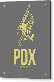 Pdx Portland Airport Poster 2 Acrylic Print