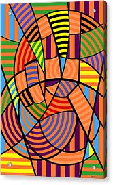 Acrylic Print featuring the digital art Peace 9 Of 12 by Randall Henrie