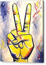 Peace And Love Acrylic Print by Allison Liffman