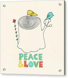 Peace And Love Acrylic Print by Eric Fan