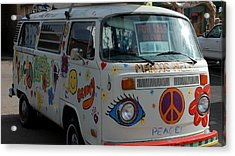Peace And Love Van Acrylic Print by Dany Lison