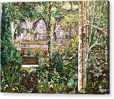 Acrylic Print featuring the painting Peace And Quiet by Belinda Low