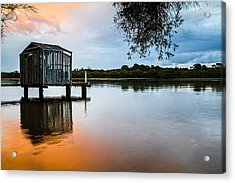 Peace At Pete's Jetty Acrylic Print by Peta Thames