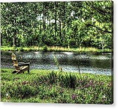 Peace At The Pond Acrylic Print by EG Kight