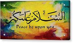 Peace Be Upon You Acrylic Print by Salwa  Najm