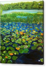 Acrylic Print featuring the painting Peace Be With You by Belinda Low