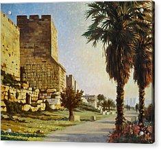 Peace Be Within You  Jerusalem Acrylic Print