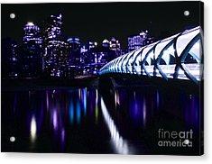 Peace Bridge Feeling The Blues Acrylic Print by Bob Christopher