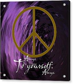 Peace Acrylic Print by Daryl Macintyre