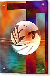 Peace Dove Acrylic Print by Bruce Manaka