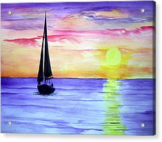 Peace Acrylic Print by Ellen Canfield