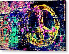 Acrylic Print featuring the photograph Peace Graffiti by Suzanne Stout
