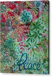 Peace Holiday Greeting Acrylic Print