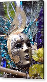 Acrylic Print featuring the photograph Peace In The Mask by Amanda Eberly-Kudamik