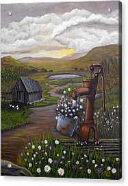 Acrylic Print featuring the painting Peace In The Valley by Sheri Keith