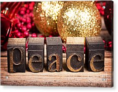 Peace Message Acrylic Print by Jane Rix