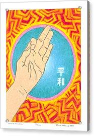 Peace - Mudra Mandala Acrylic Print