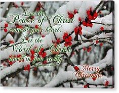Peace Of Christ Holly Acrylic Print