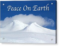 Peace On Earth Card Acrylic Print