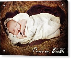 Peace On Earth Acrylic Print by Cindy Singleton