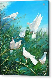 Peace On Earth Acrylic Print by Peter Jean Caley