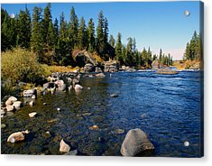 Peace On The Spokane River 2 Acrylic Print