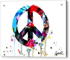 Peace Painting - Signed Art Abstract Paintings Modern Www.splashyartist.com Acrylic Print