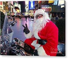 Peace Santa Acrylic Print by Ed Weidman