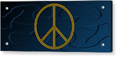 Peace Sign Acrylic Print by Daryl Macintyre