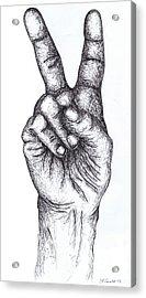 Peace Sign Acrylic Print