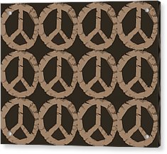 Peace Symbol Collage Acrylic Print by Michelle Calkins