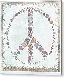 Peace Symbol Design - S76at02 Acrylic Print