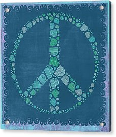 Peace Symbol Design - Tq19at02 Acrylic Print