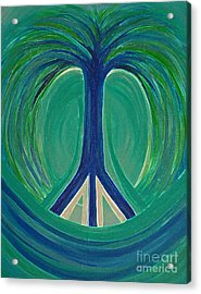 Peace Tree By Jrr Acrylic Print